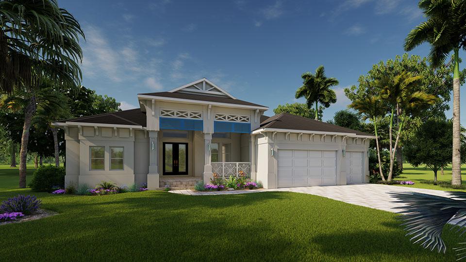 Bluestream Design Studio Florida 3d Rendering Florida Floor Plan