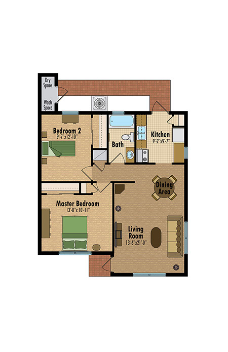 Bluestream design studio florida color floor plans cad for Apartment web design
