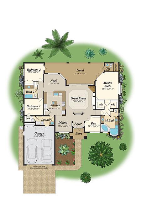 Bluestream Design Studio Florida Color Floor Plans Cad Floor Plan Port Orange Daytona Palm Coast New Smyrna Flagler Volusia County